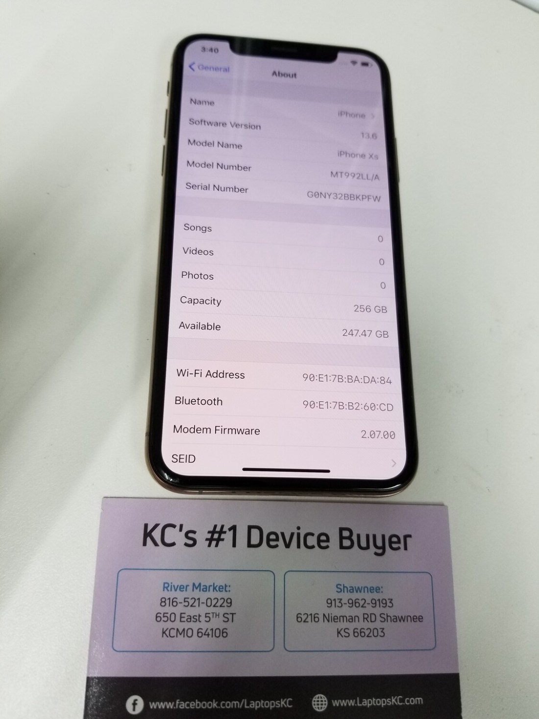 iPhone XS 256GB Carrier Unlocked