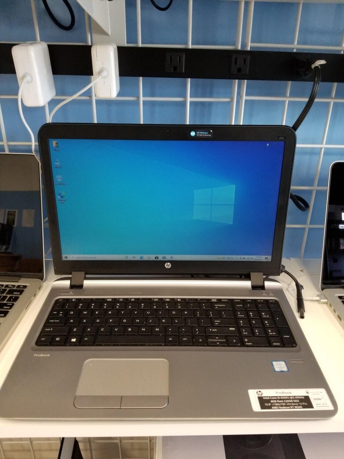 HP ProBook Intel Core i5-6200U @2.40GHz 6GB Ram 120GB SSD 15.6