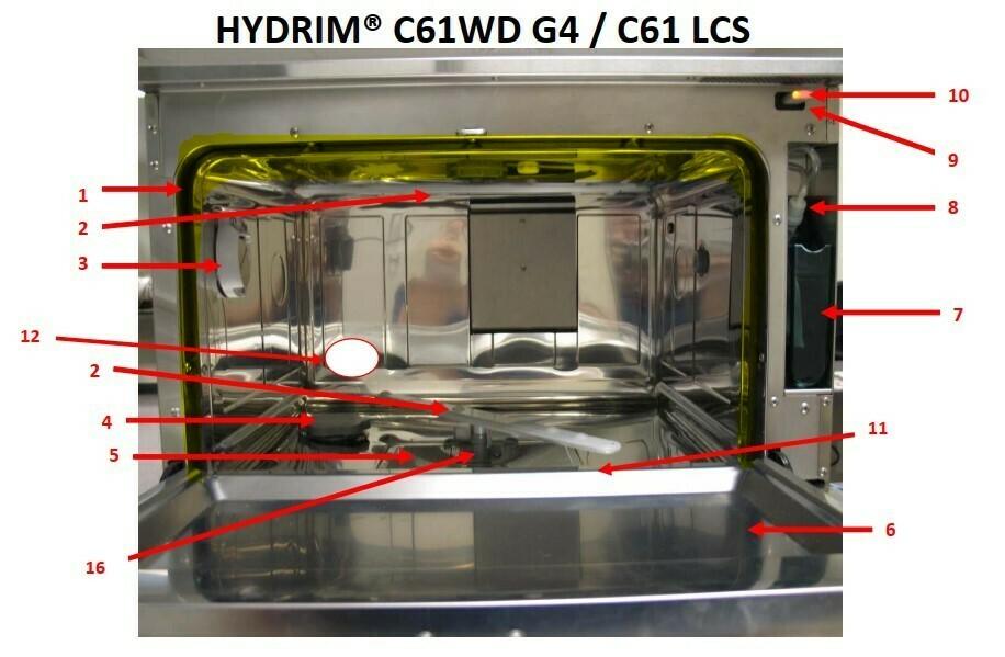 Door seal (chamber) for Hydrim G4 C61W