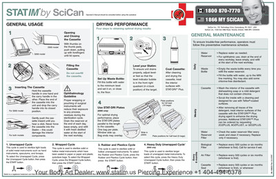 Quick Reference Poster Maintenance STATIM 2000 & 5000