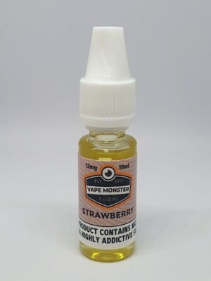 Vape Monster Strawberry 10ml 12mg 60/40