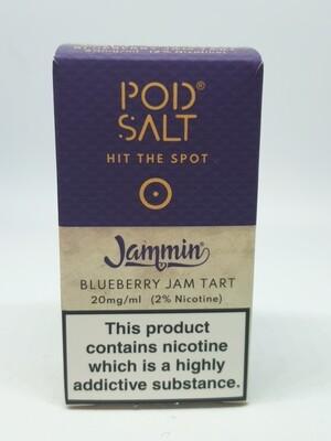 Pod Salt Jammin Blueberry Jam Tart 10ml 20mg