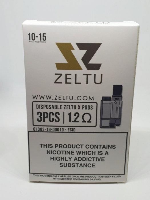 Zeltu Pod Pack Of 3 1.2 Ohm