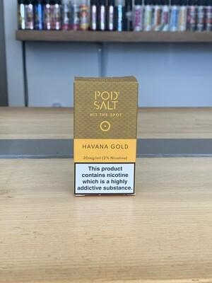 Pod Salt Havana Gold 10ml 20mg