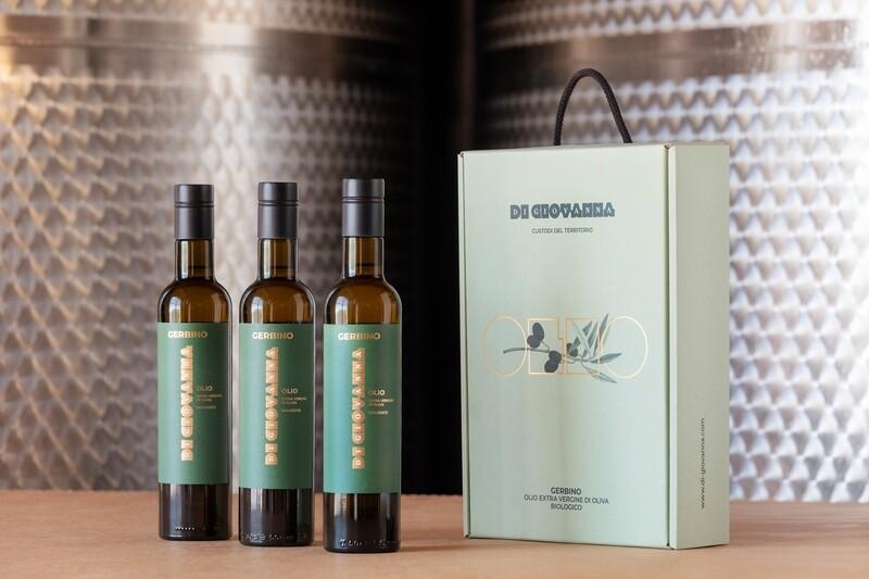 Gerbino Olive Oil 2020 Harvest - 3 Bt. (500 ml) Gift Box