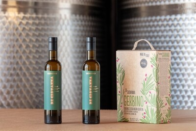 GERBINO Organic Extra Virgin Olive Oil 3 Liter Box + 2 500 ml bottles
