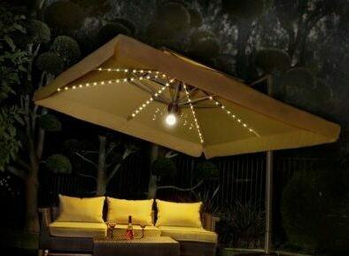 amazing 10 10 side post patio umbrella with lights