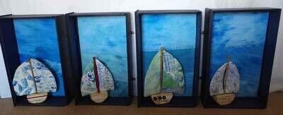Coastal Art- Dolly, Dotty, Dora, Daisy