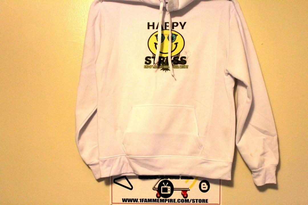 Happy Stress White Hoodie