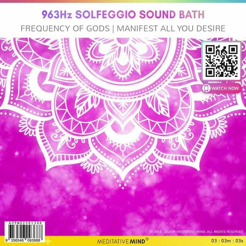 963Hz Solfeggio Sound Bath - Frequency of Gods | Manifest all you desire