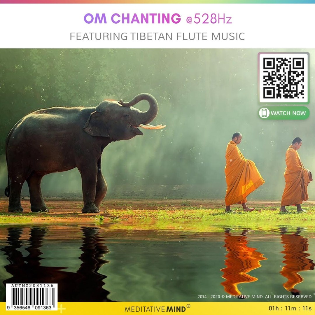 OM Chanting @528Hz - Featuring Tibetan Flute Music
