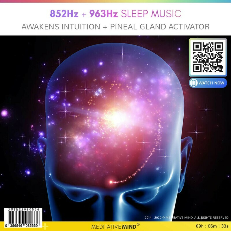 852Hz + 963Hz Sleep Music - Awakens Intuition + Pineal Gland Activator