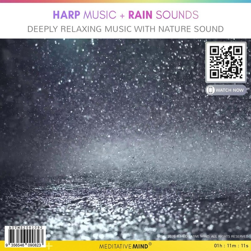 HARP MUSIC + Rain Sounds - Deep Ralaxing Music with nature sound