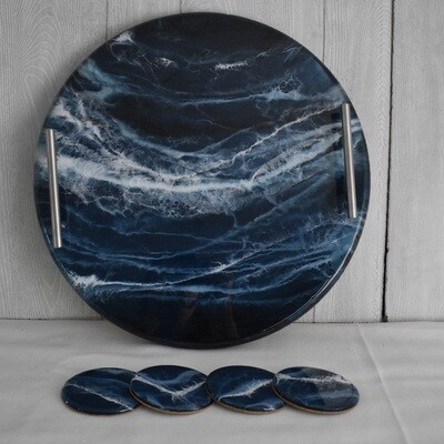 Resin Tray and Coaster set