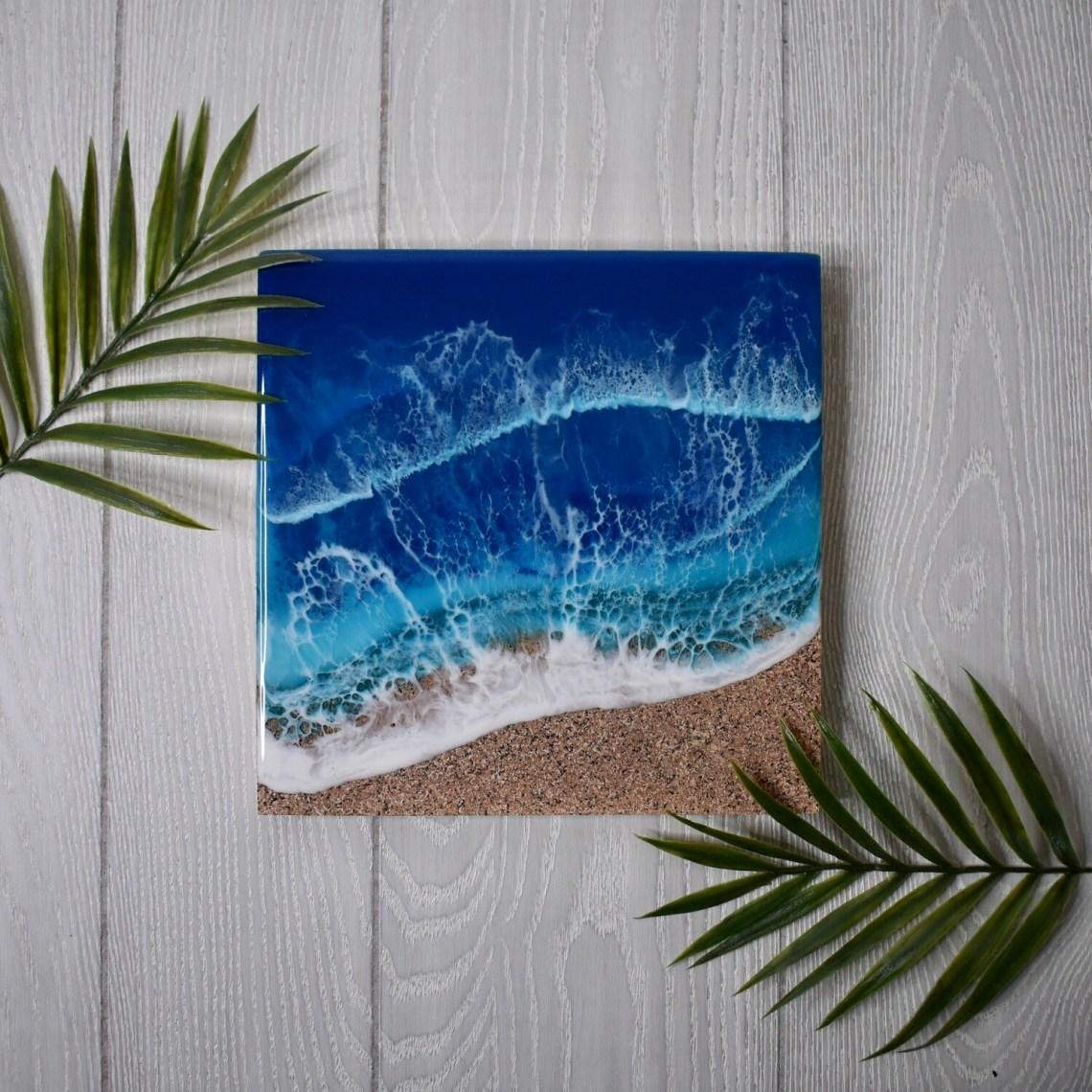 Textured Sands Blue Resin