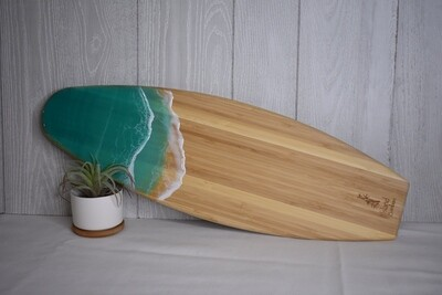 Resin Wave Surfboard - teal