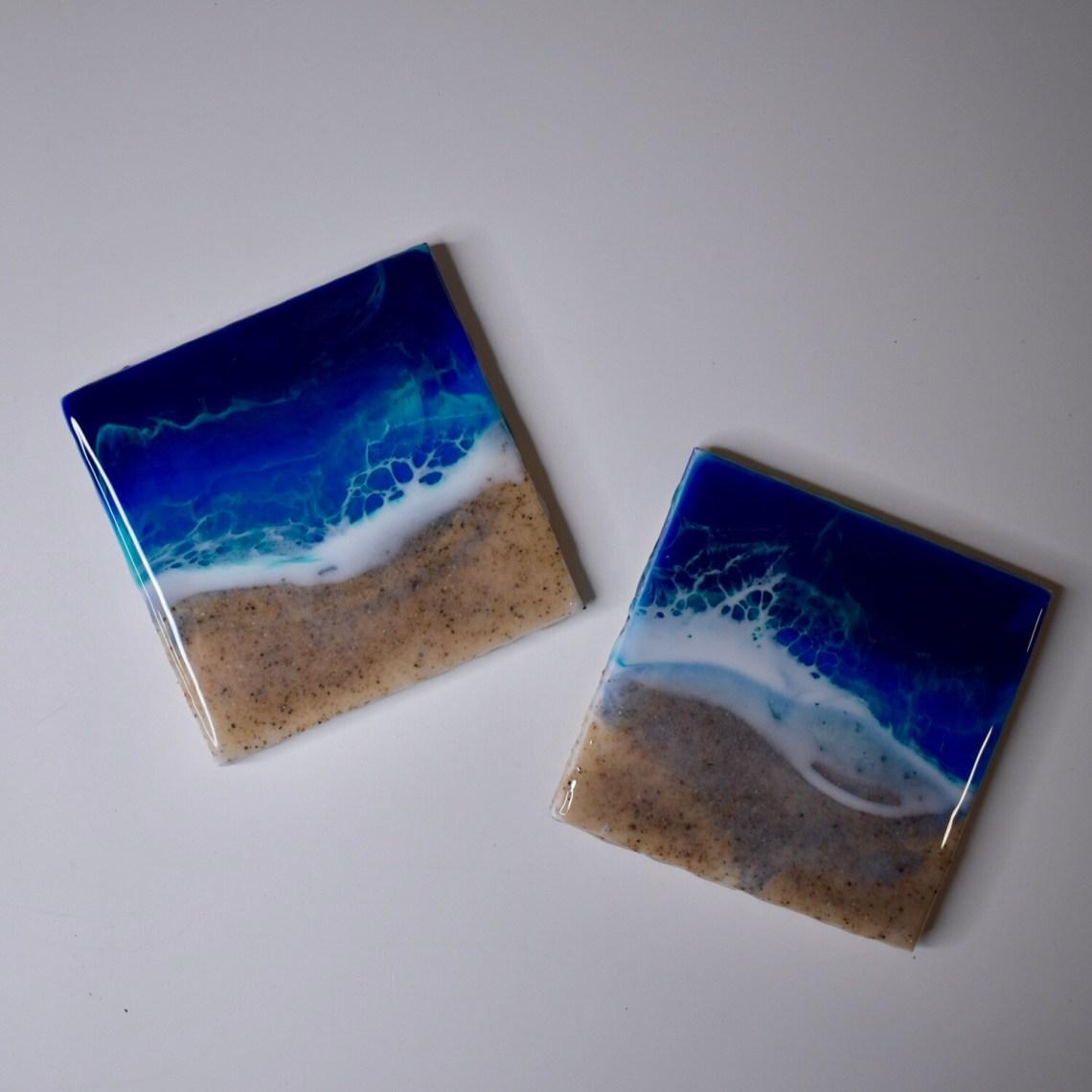 Real Sand Beach Coaster