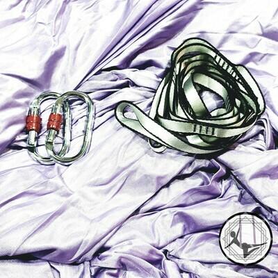 Light Purple Aerial Yoga Hammock / Silk Set