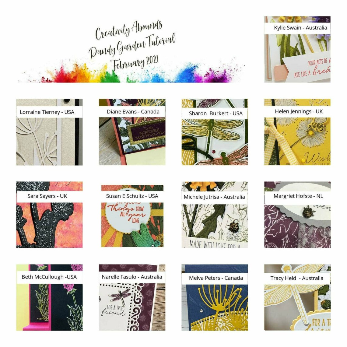 February Tutorial Bundle - Dandy Gardens Suite