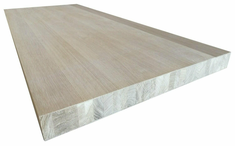 panneau bois massif chene 100 x 50 x 3 cm