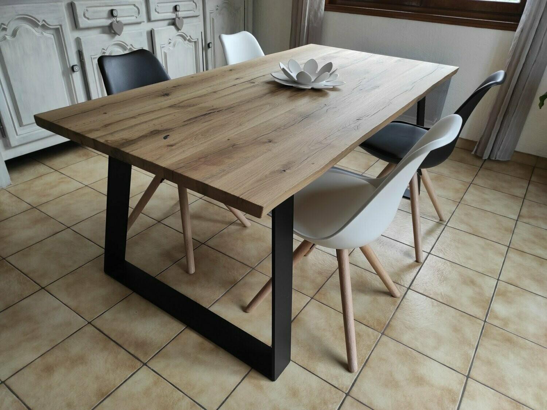 plateau table chene vieilli 240 x 100 x 4 cm