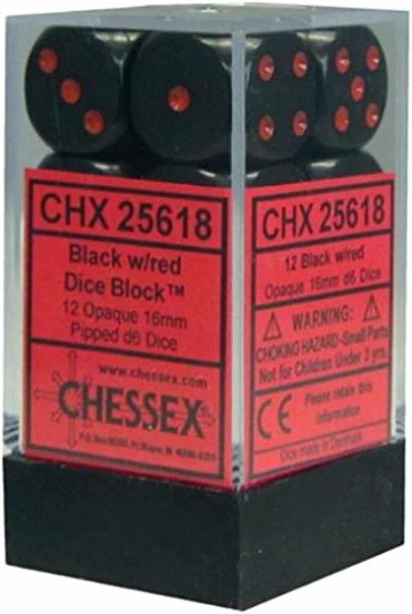 Dice CHX 25618 black/red