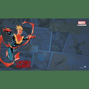 Marvel Champions Captain Marvel Playmat