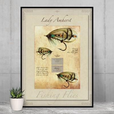 Lady Amherst Salmon Fly - High Quality Vintage-Style Print