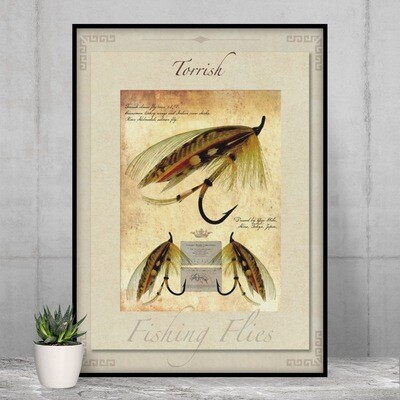 Torrish Salmon Fly - High Quality Vintage-Style Print