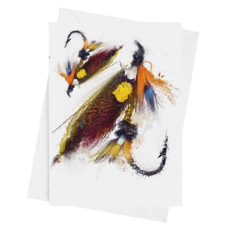 Dunkeld Fishing Fly - Luxury Art Greetings Card A5 (8.3