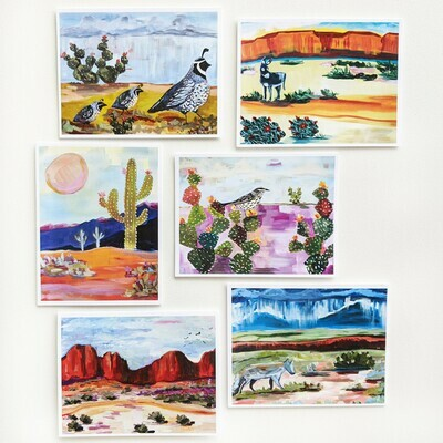 Colors of the Southwest - mixed box of 6 cards