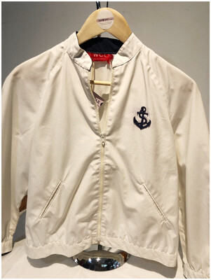 Vintage Nautical White Windbreaker
