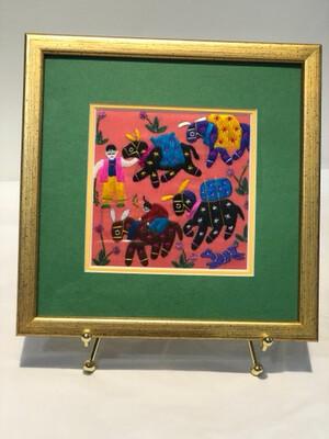 1990's Colorful Thread Art