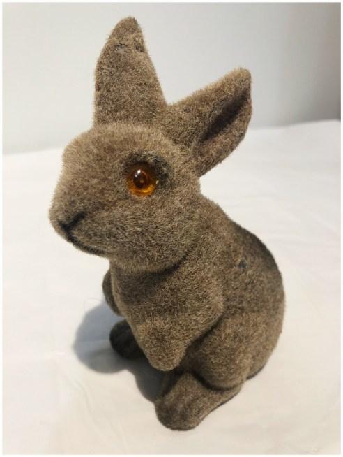 Vintage Bunny Bank In Brown Felt