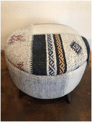 Vintage Kilim Handmade Patchwork Stool