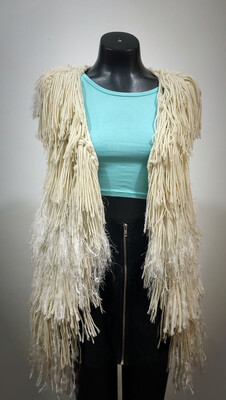 Repurposed Fringe Vest