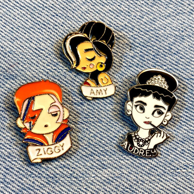 Little Head of Heroes Pin Set