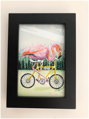 Hand Painted Flamingo 🦩 On A Ride