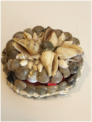 Vintage Sea Shell Trinket Box