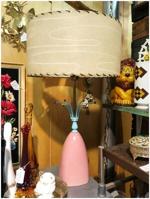 1960's Atomic Table Lamp With Original Shade