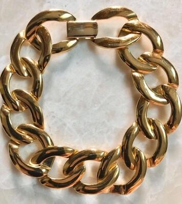 """Vintage Napier Large Link Bracelet, Approx 18"""""""