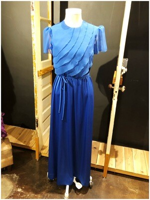 Vintage 1970's Blue Belted JC Penny Dress