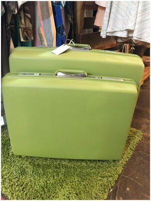 Mid Century Rare Green 2 Piece Samsonite Luggage Set
