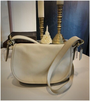 Modern Cream Coach Bleacher Crossbody Bag #4150
