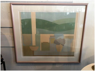 Vintage 1984 Framed & Signed Artwork