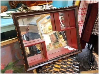 Mid Century Mirrored Nick Nack Shelf