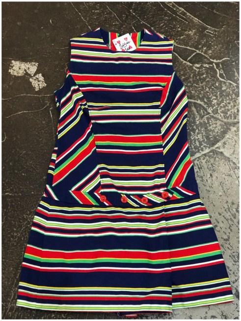 Vintage Striped Romper