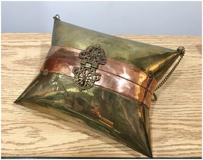 Vintage Brass & Copper Pillow Purse