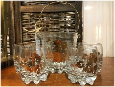 Mid Century Glassware & Ice Bucket