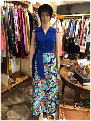 1960's Belted Maxi Dress